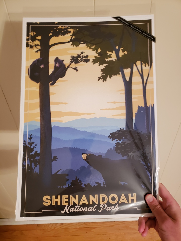 Poster of bears from Shenandoah National Park